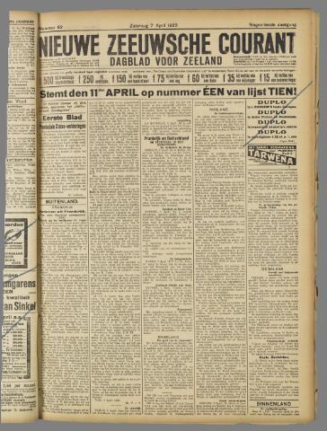Nieuwe Zeeuwsche Courant 1923-04-07