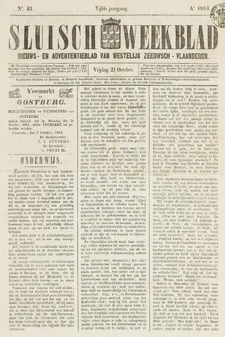 Sluisch Weekblad. Nieuws- en advertentieblad voor Westelijk Zeeuwsch-Vlaanderen 1864-10-21