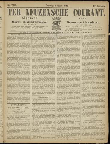 Ter Neuzensche Courant. Algemeen Nieuws- en Advertentieblad voor Zeeuwsch-Vlaanderen / Neuzensche Courant ... (idem) / (Algemeen) nieuws en advertentieblad voor Zeeuwsch-Vlaanderen 1886-03-06