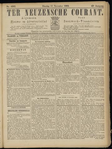 Ter Neuzensche Courant. Algemeen Nieuws- en Advertentieblad voor Zeeuwsch-Vlaanderen / Neuzensche Courant ... (idem) / (Algemeen) nieuws en advertentieblad voor Zeeuwsch-Vlaanderen 1902-11-11