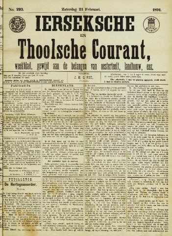 Ierseksche en Thoolsche Courant 1891-02-21
