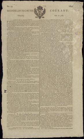 Middelburgsche Courant 1814-07-12