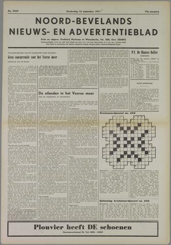 Noord-Bevelands Nieuws- en advertentieblad 1971-09-16