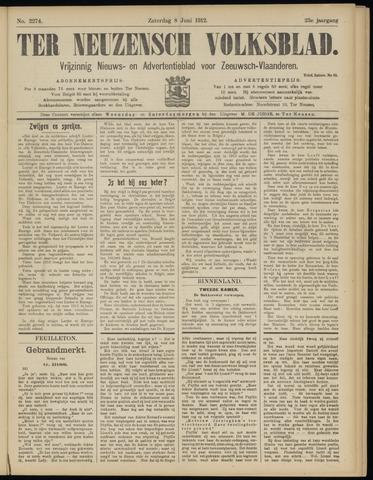 Ter Neuzensch Volksblad. Vrijzinnig nieuws- en advertentieblad voor Zeeuwsch- Vlaanderen / Zeeuwsch Nieuwsblad. Nieuws- en advertentieblad voor Zeeland 1912-06-08