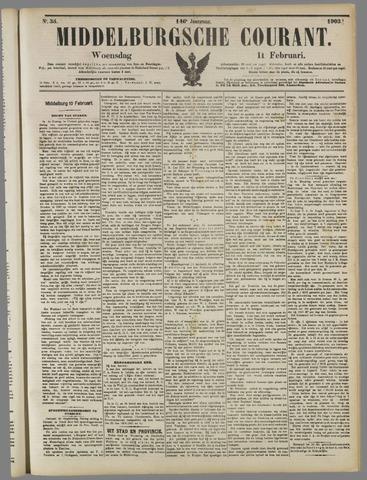 Middelburgsche Courant 1903-02-11