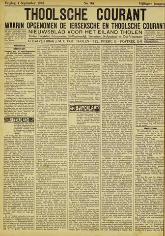 Ierseksche en Thoolsche Courant 1933-09-01