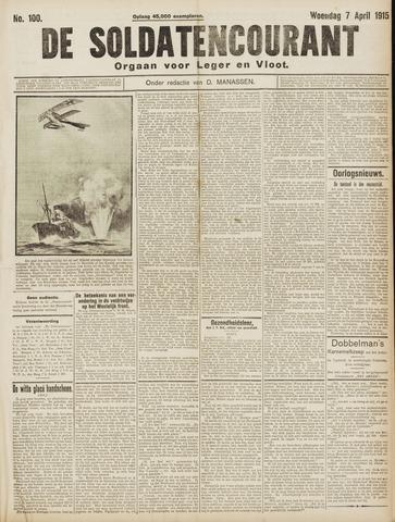 De Soldatencourant. Orgaan voor Leger en Vloot 1915-04-07