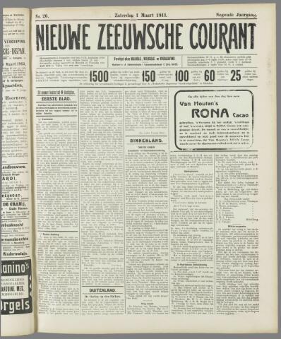 Nieuwe Zeeuwsche Courant 1913-03-01