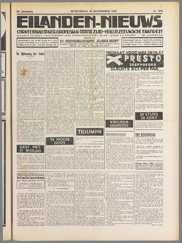 Eilanden-nieuws. Christelijk streekblad op gereformeerde grondslag 1938-11-30