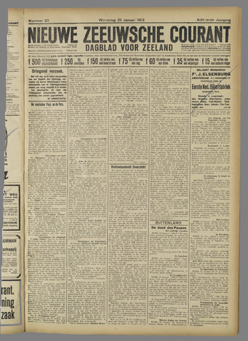 Nieuwe Zeeuwsche Courant 1922-01-25