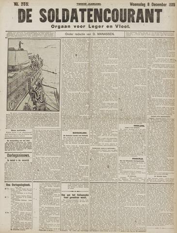 De Soldatencourant. Orgaan voor Leger en Vloot 1915-12-08