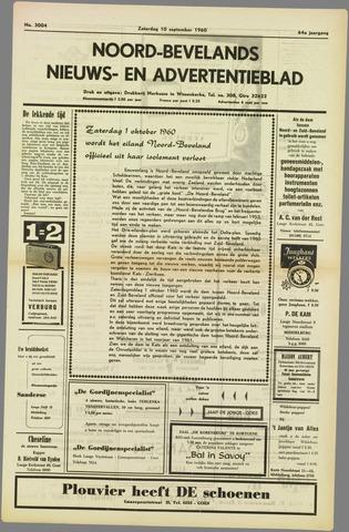 Noord-Bevelands Nieuws- en advertentieblad 1960-09-10