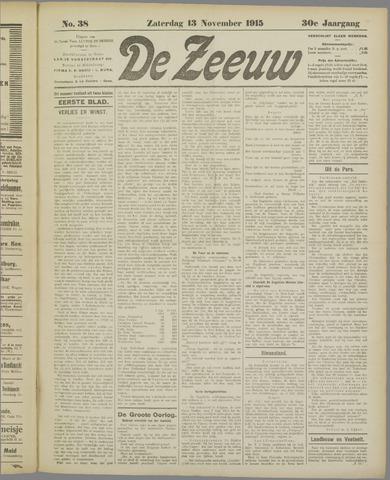 De Zeeuw. Christelijk-historisch nieuwsblad voor Zeeland 1915-11-13