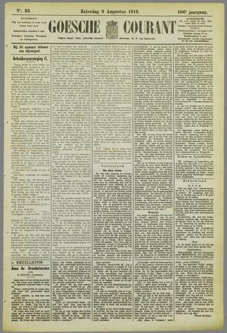 Goessche Courant 1919-08-09