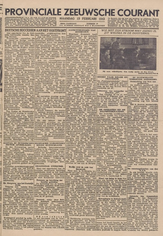Provinciale Zeeuwse Courant 1943-02-15