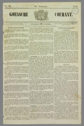 Goessche Courant 1857-11-26