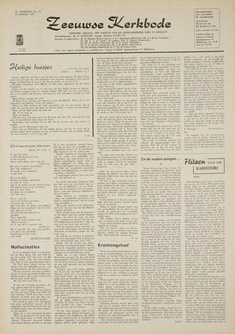 Zeeuwsche kerkbode, weekblad gewijd aan de belangen der gereformeerde kerken/ Zeeuwsch kerkblad 1969-01-30