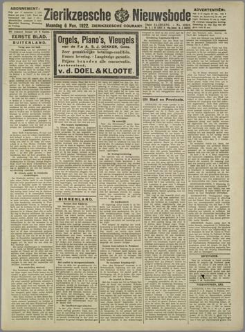 Zierikzeesche Nieuwsbode 1922-11-06