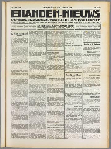 Eilanden-nieuws. Christelijk streekblad op gereformeerde grondslag 1939-09-13