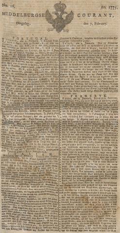Middelburgsche Courant 1775-02-07