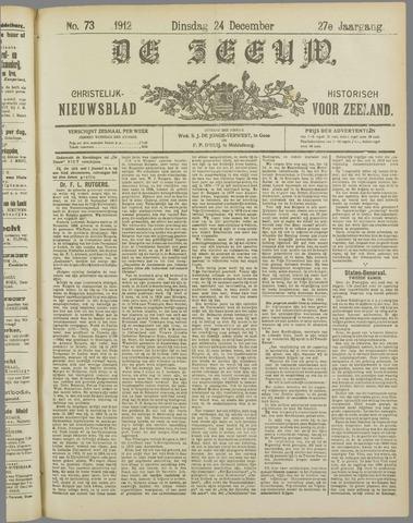 De Zeeuw. Christelijk-historisch nieuwsblad voor Zeeland 1912-12-24