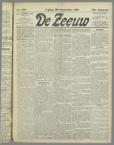 De Zeeuw. Christelijk-historisch nieuwsblad voor Zeeland 1918-09-20