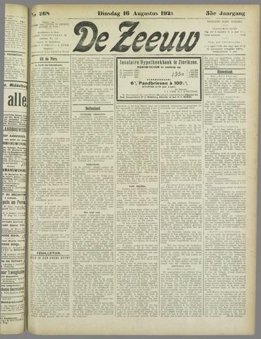 De Zeeuw. Christelijk-historisch nieuwsblad voor Zeeland 1921-08-16