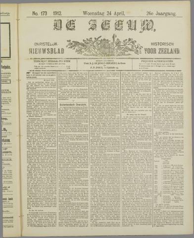 De Zeeuw. Christelijk-historisch nieuwsblad voor Zeeland 1912-04-24