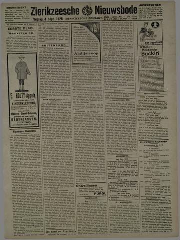 Zierikzeesche Nieuwsbode 1925-09-04