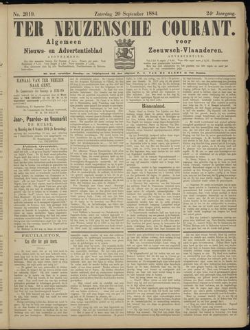 Ter Neuzensche Courant. Algemeen Nieuws- en Advertentieblad voor Zeeuwsch-Vlaanderen / Neuzensche Courant ... (idem) / (Algemeen) nieuws en advertentieblad voor Zeeuwsch-Vlaanderen 1884-09-20