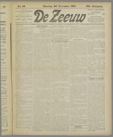 De Zeeuw. Christelijk-historisch nieuwsblad voor Zeeland 1915-11-30