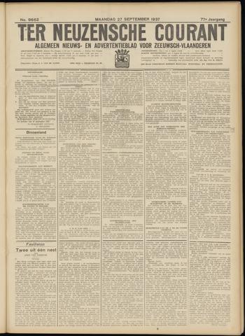 Ter Neuzensche Courant. Algemeen Nieuws- en Advertentieblad voor Zeeuwsch-Vlaanderen / Neuzensche Courant ... (idem) / (Algemeen) nieuws en advertentieblad voor Zeeuwsch-Vlaanderen 1937-09-27