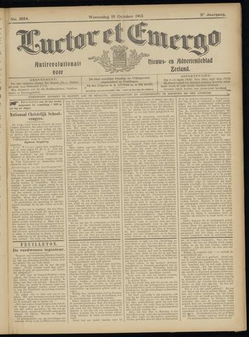 Luctor et Emergo. Antirevolutionair nieuws- en advertentieblad voor Zeeland / Zeeuwsch-Vlaanderen. Orgaan ter verspreiding van de christelijke beginselen in Zeeuwsch-Vlaanderen 1913-10-15