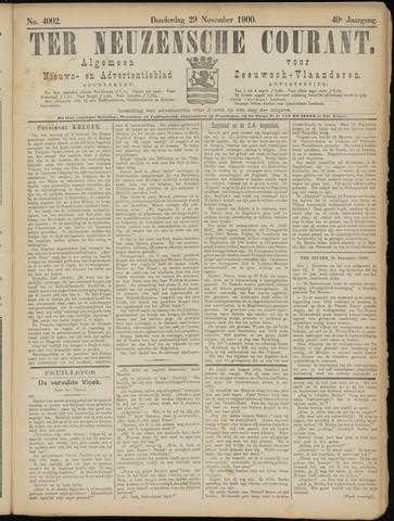 Ter Neuzensche Courant. Algemeen Nieuws- en Advertentieblad voor Zeeuwsch-Vlaanderen / Neuzensche Courant ... (idem) / (Algemeen) nieuws en advertentieblad voor Zeeuwsch-Vlaanderen 1900-11-29