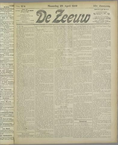 De Zeeuw. Christelijk-historisch nieuwsblad voor Zeeland 1919-04-28