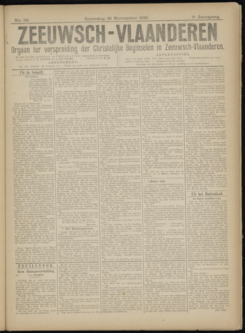 Luctor et Emergo. Antirevolutionair nieuws- en advertentieblad voor Zeeland / Zeeuwsch-Vlaanderen. Orgaan ter verspreiding van de christelijke beginselen in Zeeuwsch-Vlaanderen 1918-11-30