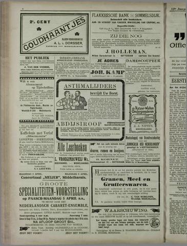 """""""Vooruit!""""Officieel Nieuws- en Advertentieblad voor Overflakkee en Goedereede 1915-04-06"""