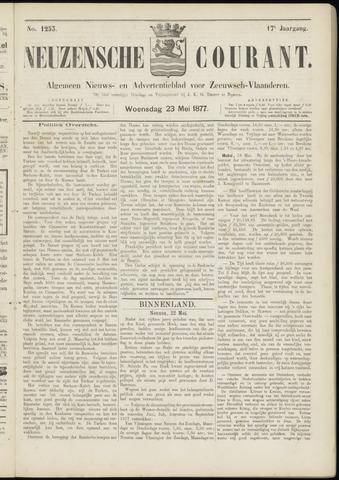 Ter Neuzensche Courant. Algemeen Nieuws- en Advertentieblad voor Zeeuwsch-Vlaanderen / Neuzensche Courant ... (idem) / (Algemeen) nieuws en advertentieblad voor Zeeuwsch-Vlaanderen 1877-05-23