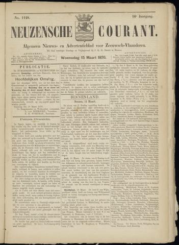Ter Neuzensche Courant. Algemeen Nieuws- en Advertentieblad voor Zeeuwsch-Vlaanderen / Neuzensche Courant ... (idem) / (Algemeen) nieuws en advertentieblad voor Zeeuwsch-Vlaanderen 1876-03-15