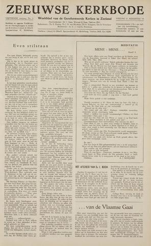 Zeeuwsche kerkbode, weekblad gewijd aan de belangen der gereformeerde kerken/ Zeeuwsch kerkblad 1959-08-21