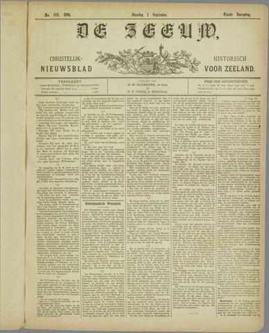 De Zeeuw. Christelijk-historisch nieuwsblad voor Zeeland 1896-09-01