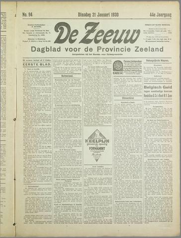 De Zeeuw. Christelijk-historisch nieuwsblad voor Zeeland 1930-01-21