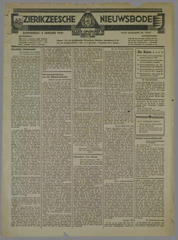 Zierikzeesche Nieuwsbode 1941