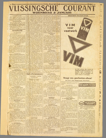 Vlissingse Courant 1924