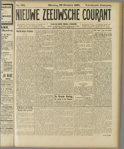 Nieuwe Zeeuwsche Courant 1918-10-22