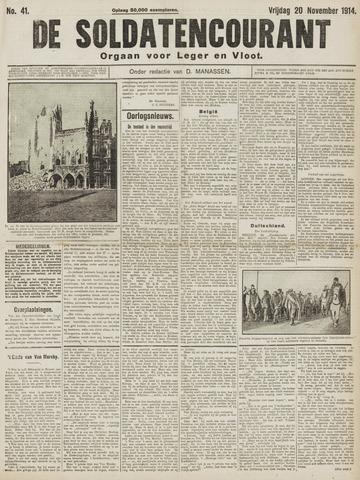 De Soldatencourant. Orgaan voor Leger en Vloot 1914-11-20