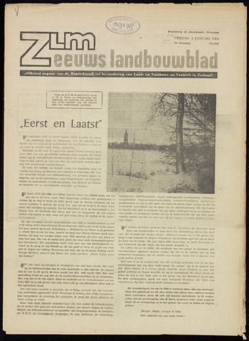 Zeeuwsch landbouwblad ... ZLM land- en tuinbouwblad 1963