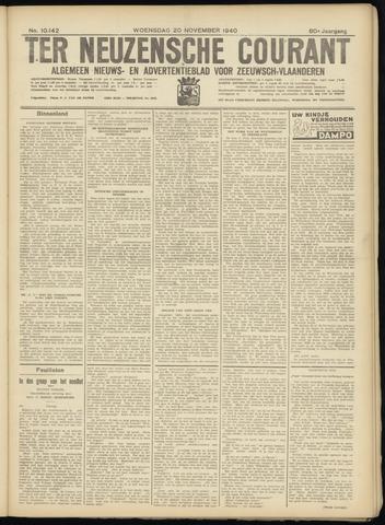 Ter Neuzensche Courant. Algemeen Nieuws- en Advertentieblad voor Zeeuwsch-Vlaanderen / Neuzensche Courant ... (idem) / (Algemeen) nieuws en advertentieblad voor Zeeuwsch-Vlaanderen 1940-11-20