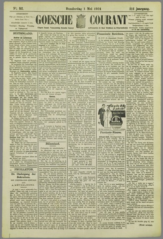 Goessche Courant 1924-05-01