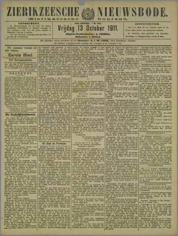 Zierikzeesche Nieuwsbode 1911-10-13
